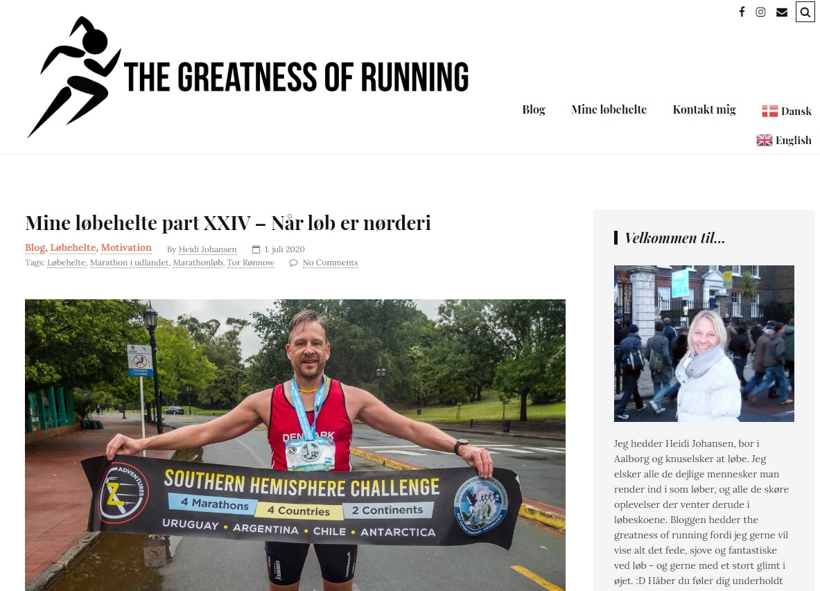 Running Hero - Løbehelt - The Greatness of Running - Heidi Johansen -  2020 - Tor Rønnow